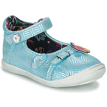 Schuhe Mädchen Ballerinas Catimini SITELLE Blau / Silbern