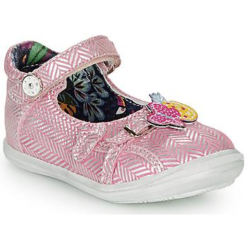 Schuhe Mädchen Ballerinas Catimini SITELLE Rose / Silbern