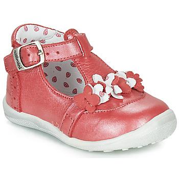 Schuhe Mädchen Boots Catimini SALICORNE Rot / Perlmut / Dpf / Gluck