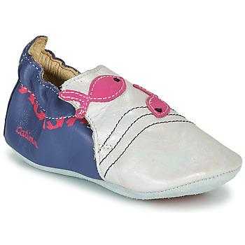 Schuhe Mädchen Hausschuhe Catimini SIRENE Weiss / Marine / Rose