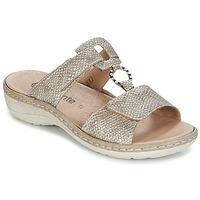 Schuhe Damen Pantoffel Remonte Dorndorf REDMON Goldfarben