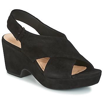 Schuhe Damen Sandalen / Sandaletten Clarks MARITSA LARA Schwarz