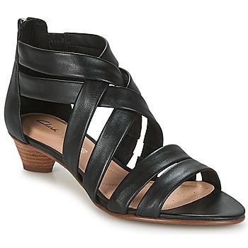 Schuhe Damen Sandalen / Sandaletten Clarks MENA SILK Schwarz