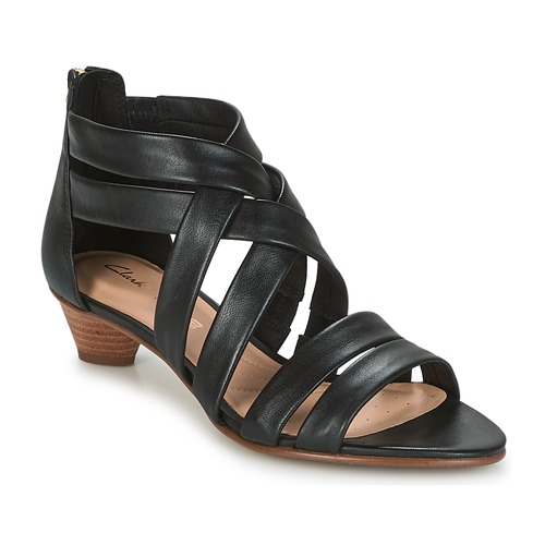 Clarks MENA SILK Schwarz Schuhe Sandalen / Sandaletten Damen 80