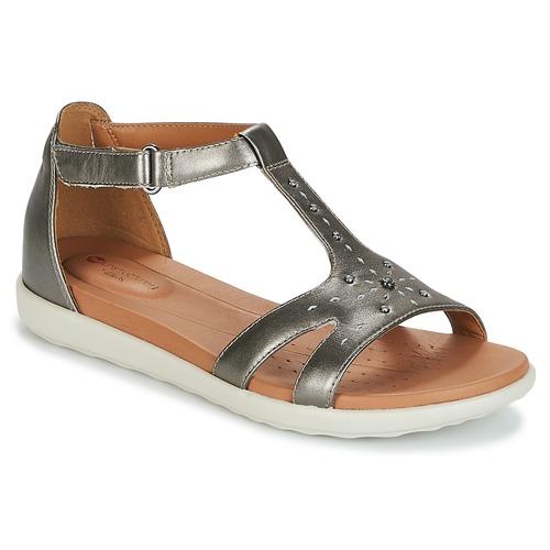 Clarks UN REISEL Sandaletten MARA Silbern  Schuhe Sandalen / Sandaletten REISEL Damen 54 411389