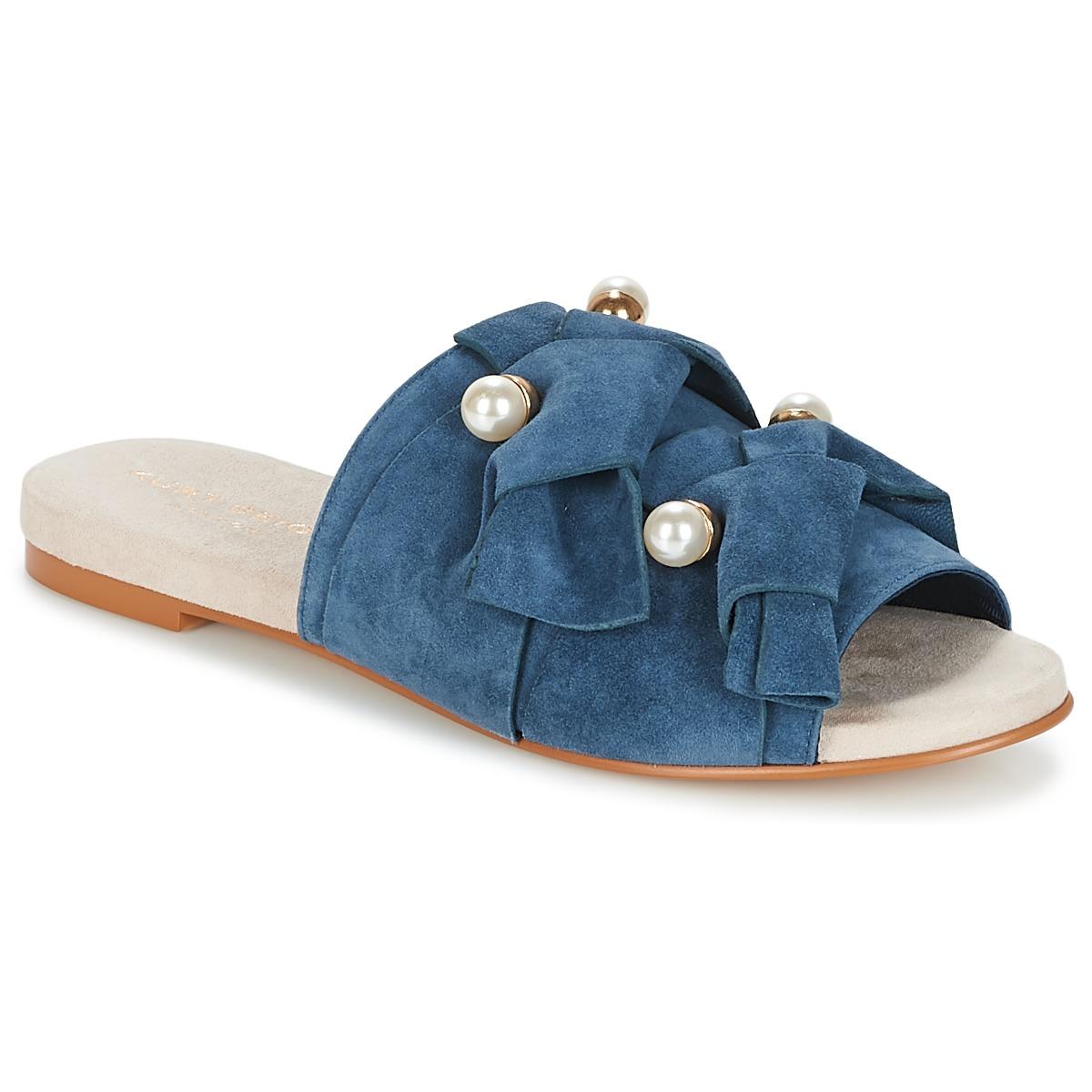 KG by Kurt Geiger NAOMI-BLUE Blau - Kostenloser Versand bei Spartoode ! - Schuhe Pantoffel Damen 73,80 €