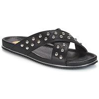Schuhe Damen Pantoffel Buffalo ALOLAJEP Schwarz