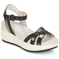 Schuhe Damen Sandalen / Sandaletten Lumberjack BLANCHE Schwarz / Silbern