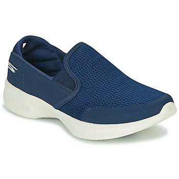 Schuhe Damen Slip on Skechers GO WALK 4 Marine