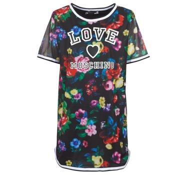 Kleidung Damen Kurze Kleider Love Moschino W5A0302 Schwarz / Multicolor
