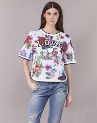 Kleidung Damen Tops / Blusen Love Moschino W4G2801 Weiss / Multicolor
