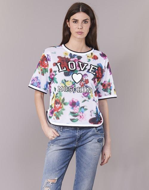 Kleidung Damen Tops / Blusen Love Moschino W4G2801 Weiss / Multifarben