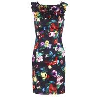 Kleidung Damen Kurze Kleider Love Moschino WVG3100 Schwarz / Multifarben