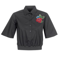 Kleidung Damen Hemden Love Moschino WCC5401 Schwarz