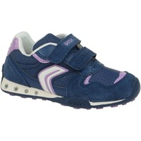 Schuhe Kinder Sneaker Low Geox NEW JOCKER GIRL Blau (avio / lilac)