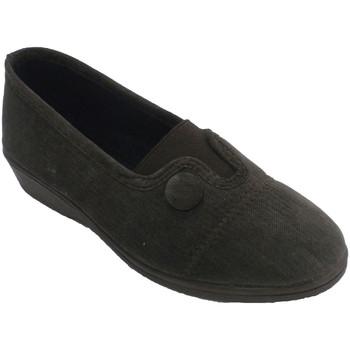 Schuhe Damen Hausschuhe Made In Spain 1940 Elastischer geschlossener Frauenschuh im Braun
