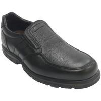 Schuhe Herren Slipper Made In Spain 1940 Herren elastischer Gummi-Bodenschuh auf Schwarz