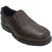 Schuhe Herren Slipper Made In Spain 1940 Herren elastischer Gummi-Bodenschuh auf Braun