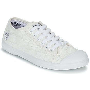 Schuhe Damen Sneaker Low Le Temps des Cerises BASIC 02 Weiss