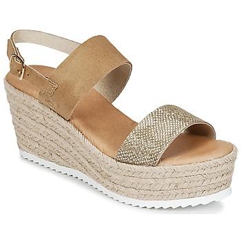 Schuhe Damen Sandalen / Sandaletten Casual Attitude INUIL Goldfarben / Braun