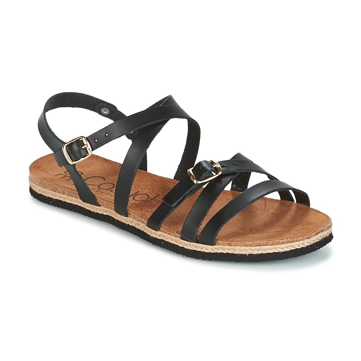 Casual Attitude ILMEM Schwarz - Kostenloser Versand bei Spartoode ! - Schuhe Sandalen / Sandaletten Damen 31,99 €