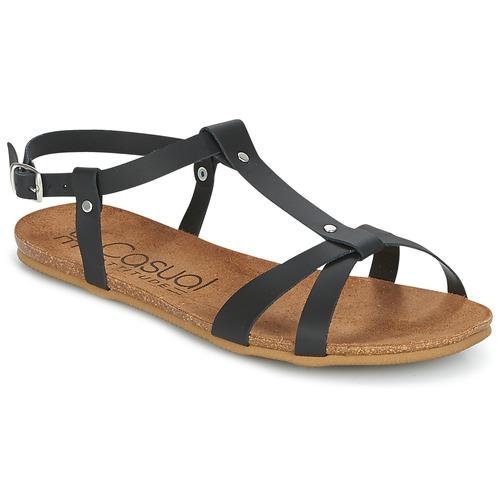 Schuhe Damen Sandalen / Sandaletten Casual Attitude IPLEM Schwarz