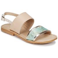 Schuhe Mädchen Sandalen / Sandaletten Citrouille et Compagnie IOCHARLI Beige / Blau