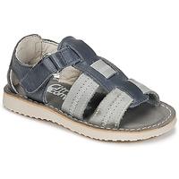 Schuhe Jungen Sandalen / Sandaletten Citrouille et Compagnie IOUTIKER Blau / Grau