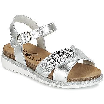 Schuhe Mädchen Sandalen / Sandaletten Citrouille et Compagnie IZOEGL Silbern