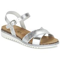 Schuhe Mädchen Sandalen / Sandaletten Citrouille et Compagnie GAUFRETTE Silbern