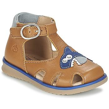 Schuhe Jungen Sandalen / Sandaletten Citrouille et Compagnie ISKILANDRO Braun / Blau