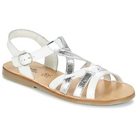 Schuhe Mädchen Sandalen / Sandaletten Citrouille et Compagnie IMONGI Weiss / Silbern