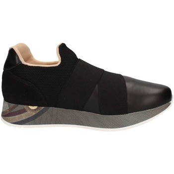 Schuhe Damen Slip on Gattinoni 6086 Sneaker Frau Black Black