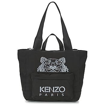Taschen Damen Shopper / Einkaufstasche Kenzo KANVAS TIGER TOTE LARGE Schwarz