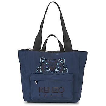 Taschen Damen Shopper / Einkaufstasche Kenzo KANVAS TIGER TOTE LARGE Marine