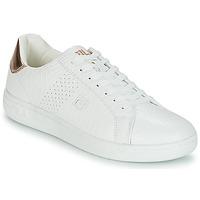 Schuhe Damen Sneaker Low Fila CROSSCOURT 2 F LOW WMN Weiss / Rose / Gold