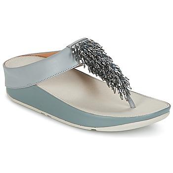 Schuhe Damen Zehensandalen FitFlop CHA-CHA TOE-THONG SANDALS CRYSTAL Blau