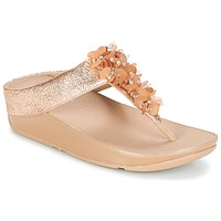 Schuhe Damen Zehensandalen FitFlop BOOGALOO TOE POST Rose / Gold