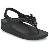 Schuhe Damen Sandalen / Sandaletten FitFlop BOOGALOO BACK STRAP SANDAL Schwarz