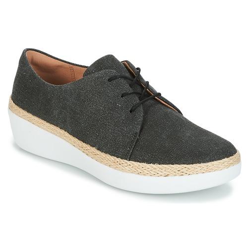 FitFlop SUPERDERBY LACE UP SHOES Schwarz  Schuhe Sneaker Low Damen 100