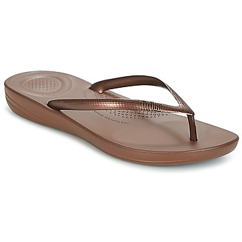 Schuhe Damen Zehensandalen FitFlop IQUSHION ERGONOMIC FLIP FLOPS Braun