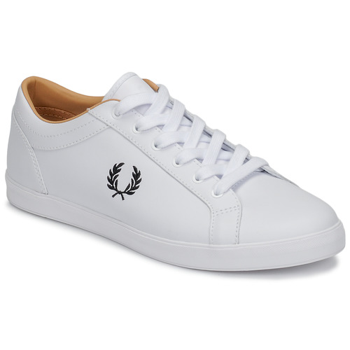 Fred Perry BASELINE LEATHER Weiss