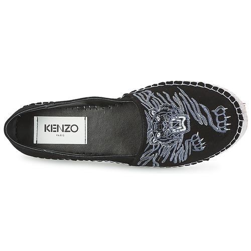 Kenzo KUMI ESPADRILLE Schwarz gefloch  Schuhe Leinen-Pantoletten mit gefloch Schwarz Damen 171,50 463987