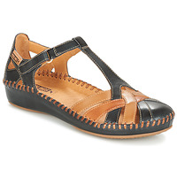 Schuhe Damen Ballerinas Pikolinos P. VALLARTA 655 Marine / Camel