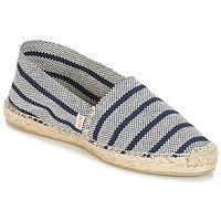 Schuhe Damen Leinen-Pantoletten mit gefloch Pare Gabia VPRAYEE Marine