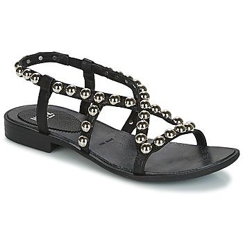 Schuhe Damen Sandalen / Sandaletten Now SANTIAGO Schwarz