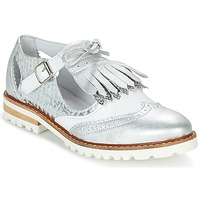 Schuhe Damen Derby-Schuhe Regard RETAZO Weiss / Silbern