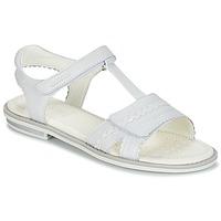 Schuhe Mädchen Sandalen / Sandaletten Geox J S.GIGLIO A Weiss