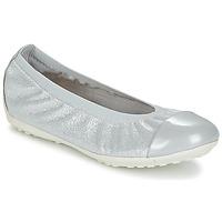 Schuhe Mädchen Ballerinas Geox J PIUMA BAL A Grau / Silbern