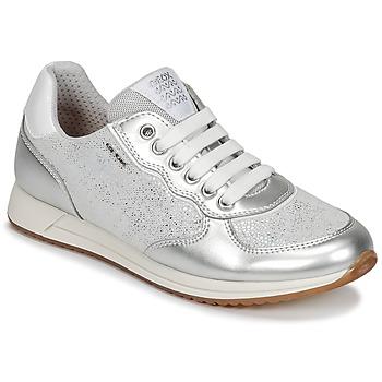 Schuhe Mädchen Sneaker Low Geox J JENSEA G. D Grau / Silbern